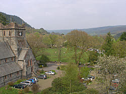 view from this bed and breakfast in betws-y-coed along the conwy valley